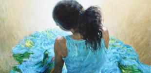 Като цвете. 2013, м.б., платно, 150/112 см Like a Flower. 2013, oil on canvas, 150/120 cm