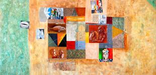 Стоимен Стоилов Средиземноморски фрагменти. 2012, м.б., платно, 200/260 см Stoimen Stoilov Mediterranean Fragments. 2012, oil on canvas, 200/260 cm